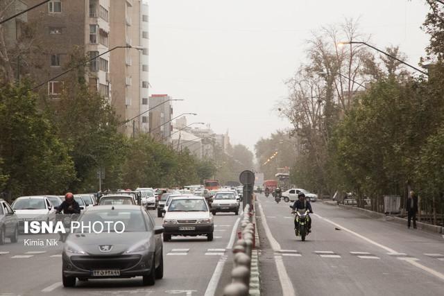 کاهش موقتی غلظت آلاینده ها در هوای تهران
