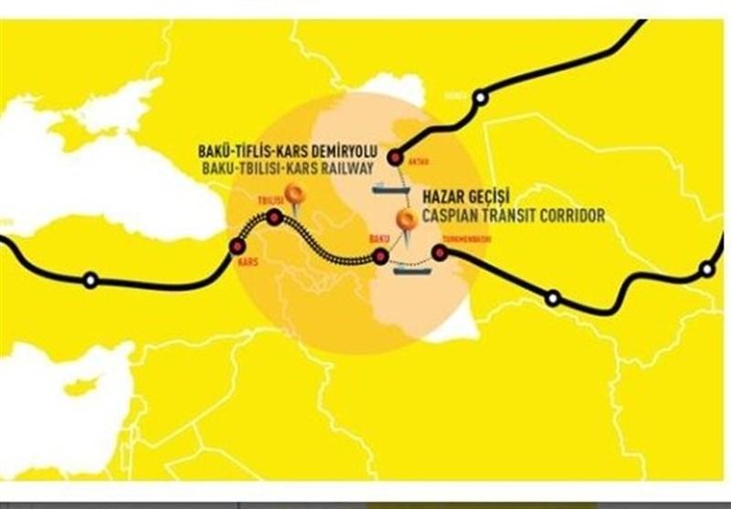 ترکیه: راه آهن باکو - تفلیس - کارس پنجره ای رو به اروپا برای آسیا است
