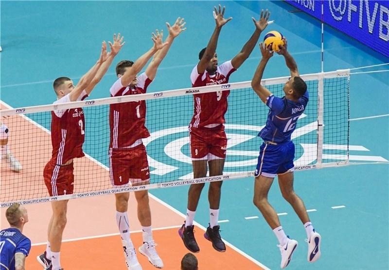 والیبال انتخابی المپیک، پیروزی آسان لهستان مقابل فرانسه، چین مغلوب کانادا شد