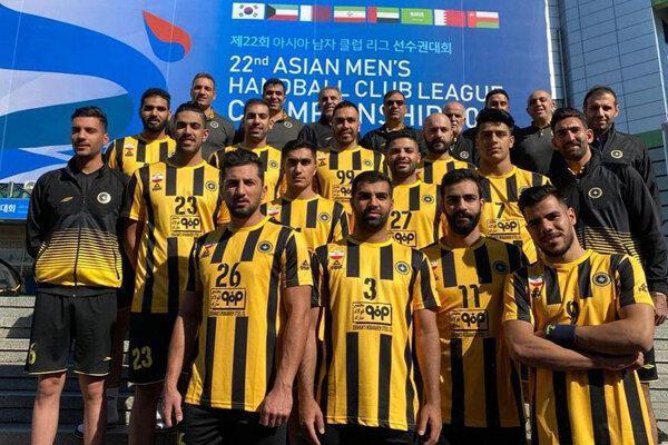 تیم هندبال سپاهان برابر نماینده عربستان باخت