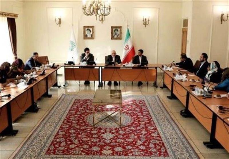 دیدار ظریف با بانوان روزنامه نگار هندی در تهران