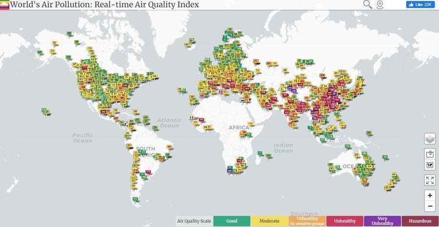 کاهش موقتی انتشار گازهای گلخانه ای در دنیا ، انتها کرونا شروع آلودگی دوباره زمین است
