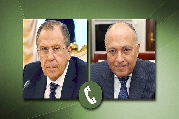 وزرای خارجه روسیه و مصر مصاحبه کردند