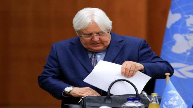 گریفیث برای بررسی پیشنهادات سازمان ملل وارد ریاض شد