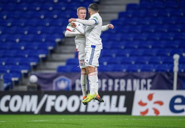 جام حذفی فرانسه، لیون به جمع 16 تیم پایانی رسید