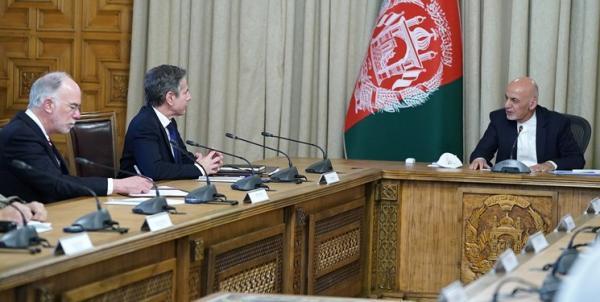 سفر وزیر خارجه آمریکا به کابل؛ بلینکن با اشرف غنی ملاقات کرد