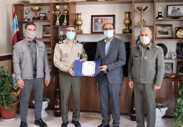 ملاقات صدیقی با رئیس تربیت بدنی ارتش